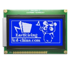 Display lcd 128x64 Graphic Module KS0107 KS0108 White Blue ERM12864SBS-2
